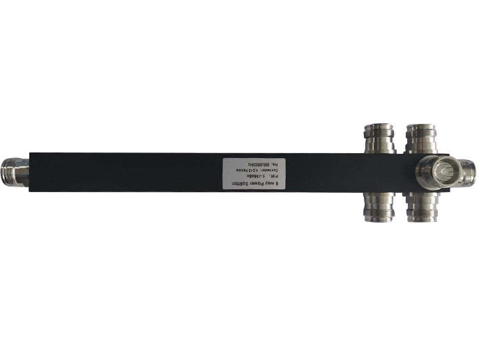 698-3800 ميجا هرتز Black Square 4.3-10 Mini Din Female 6 Way Power Divider Splitter
